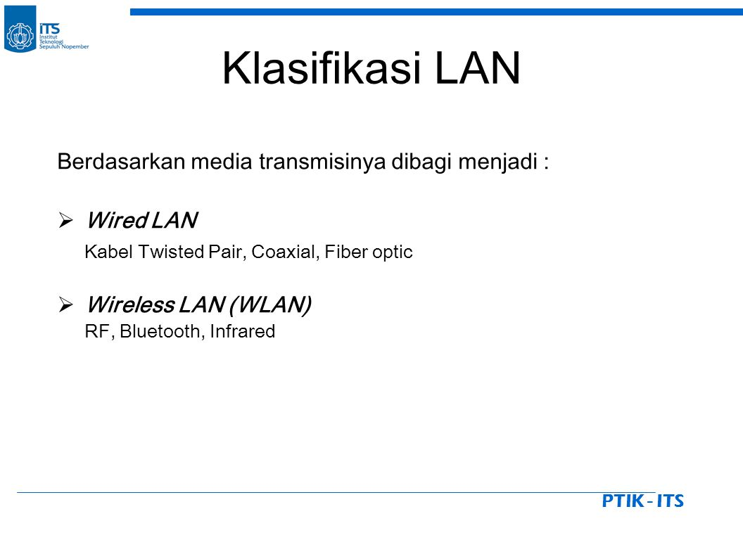 PTIK - ITS Klik Properties pada Local Area Connection Status, Lalu klik properties pada Internet Protokol TCP/IP.