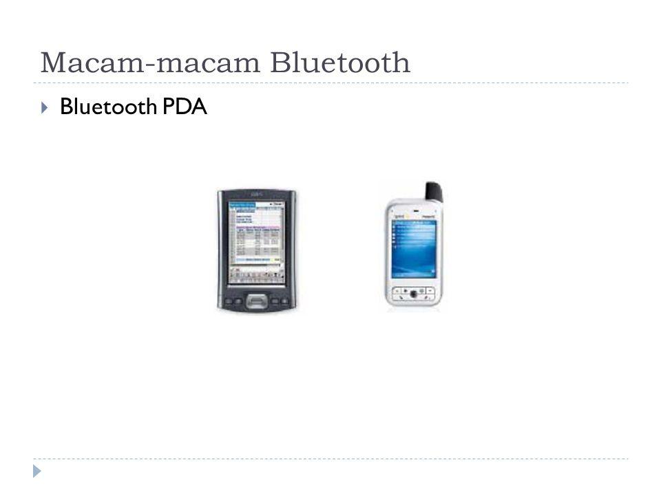 Macam-macam Bluetooth  Bluetooth PDA