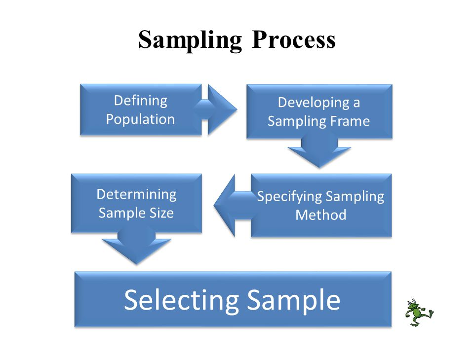 Determining Sample Size Sampling Process Developing a Sampling Frame Defining Population Specifying Sampling Method Selecting Sample