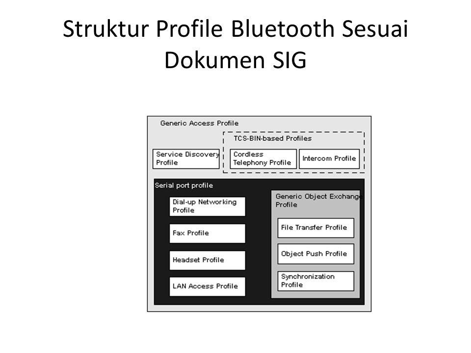 Struktur Profile Bluetooth Sesuai Dokumen SIG