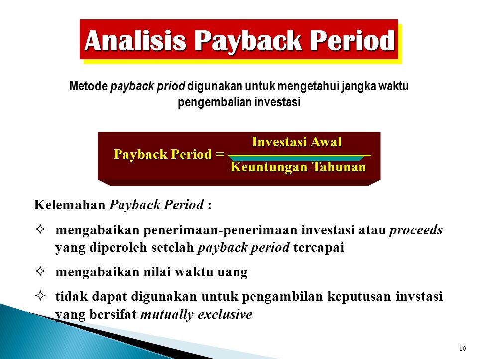9 Metode Tradisional Accounting Rate of Return on Capital Employed (ROCE) Laba Akuntansi Jumlah Modal yang Diinvestasikan Masalah dalam penggunaan met
