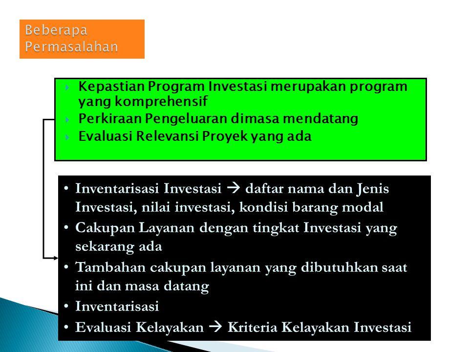 Fungsi pemerintah  memberikan pelayanan kpd masyarakat Investasi berkaitan dgn anggaran Agar Investasi mencapai 3E maka diperlukan analisis investasi