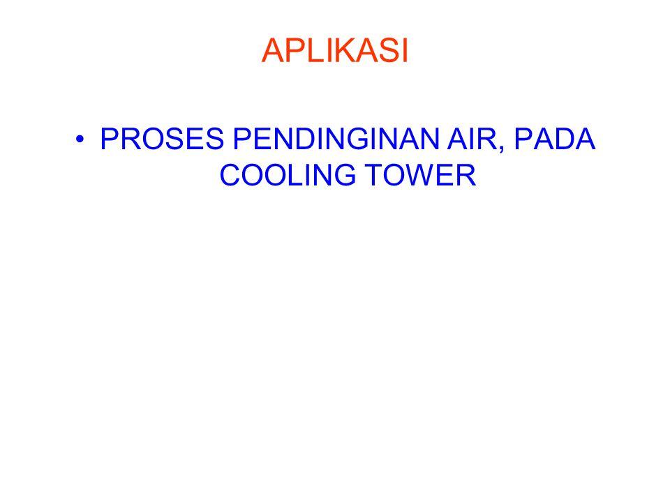 APLIKASI PROSES PENDINGINAN AIR, PADA COOLING TOWER
