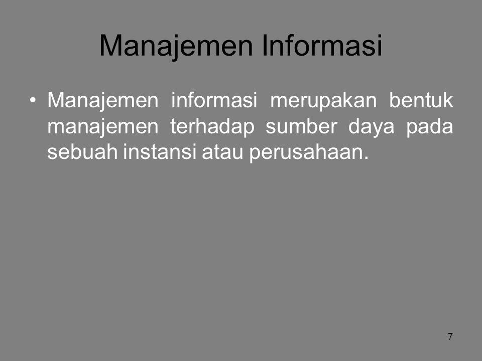 8 Jenis-Jenis Utama Sumber Daya SP71  Manusia  Material  Mesin  Uang  Informasi Sumber daya berwujud Sumber konseptual