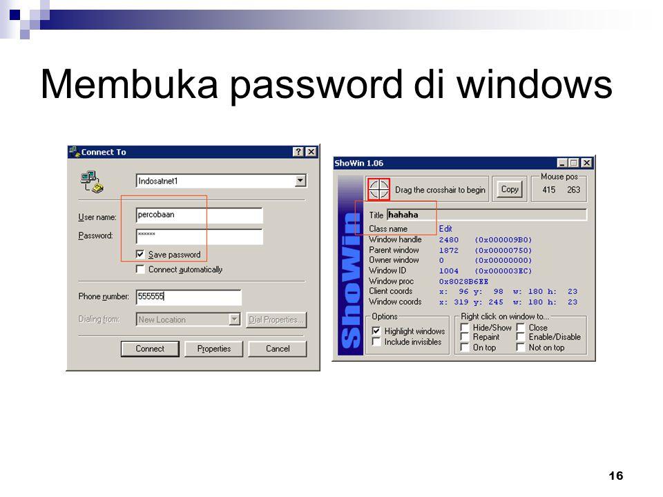 16 Membuka password di windows