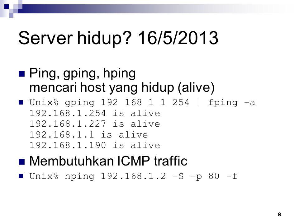 8 Server hidup.