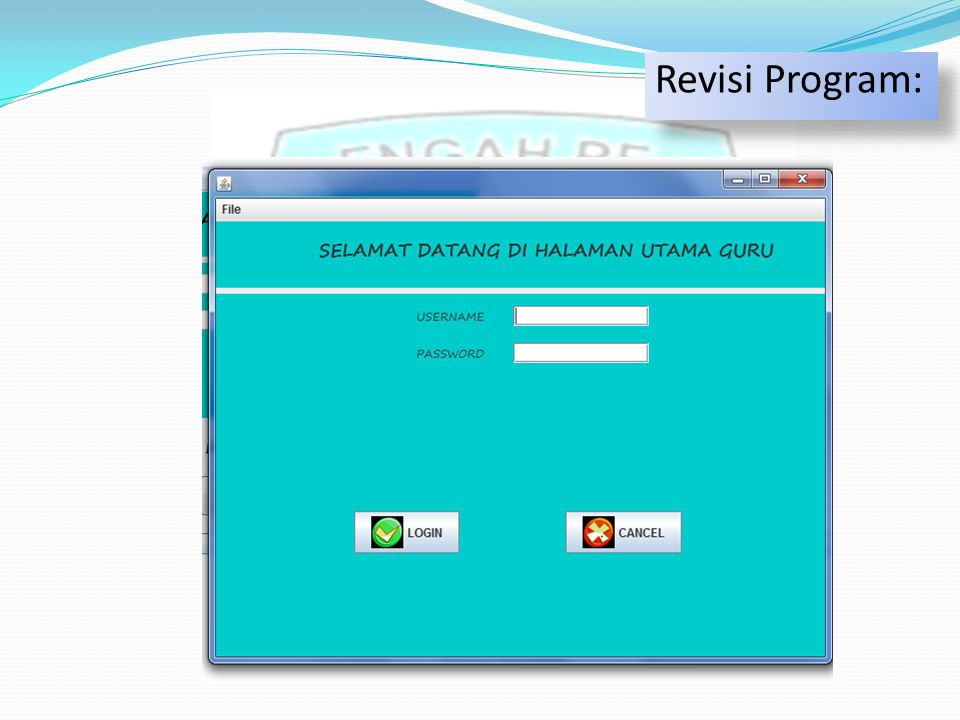 Revisi Program: