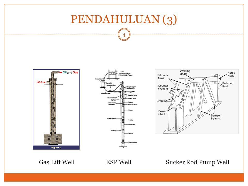 PENDAHULUAN (3) Gas Lift WellESP WellSucker Rod Pump Well 4