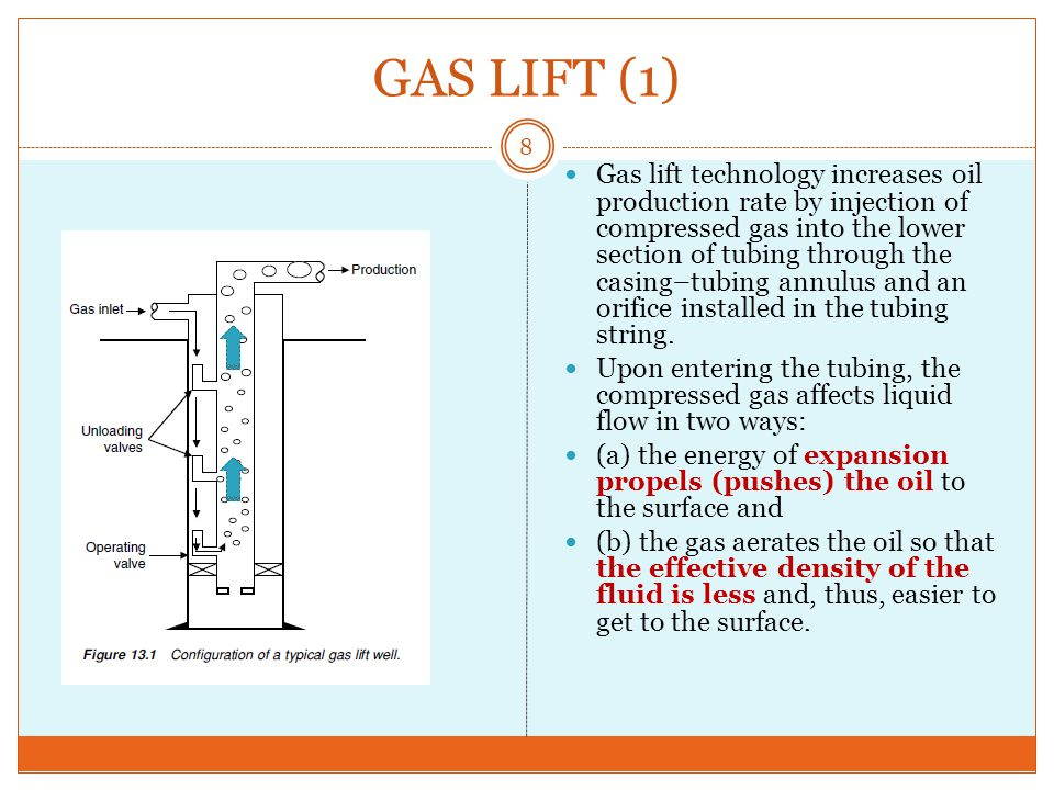 49 Tahap II Pada Gambar 2 gas injeksi mendorong permukaan cairan work-over, dan telah me-lampaui katup unloading (1) dan mencapai katup unloading (2).