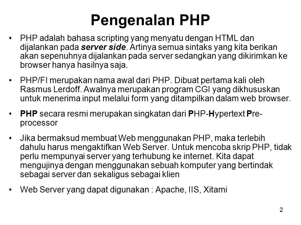 3 Skema Hubungan Web Browser-Web Server-PHP