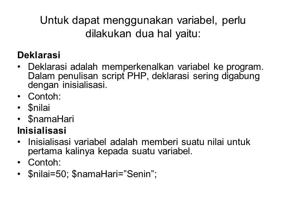 $kota[0]= Yogya ; $kota[1]= Solo ; $kota[2]= Bandung ; $kota[3]= Bogor ;