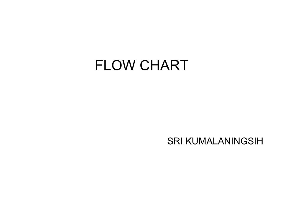 FLOW CHART (PETA ALIR) Apa yang dimaksud flow chart .