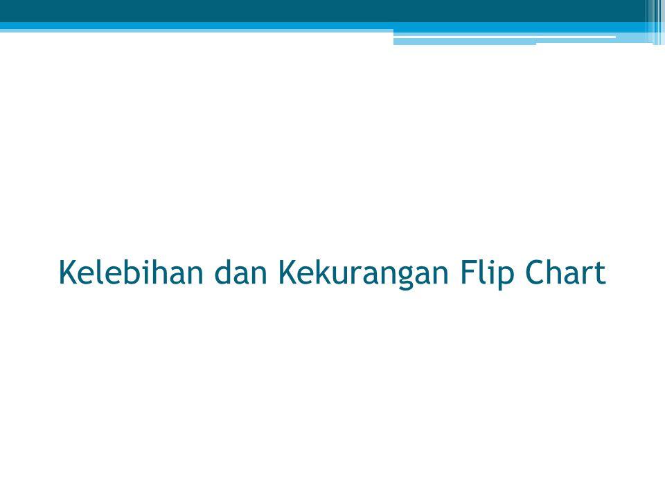 Kelebihan Flip Chart Mampu menyajikan pesan pembelajaran secara ringkas dan praktis.