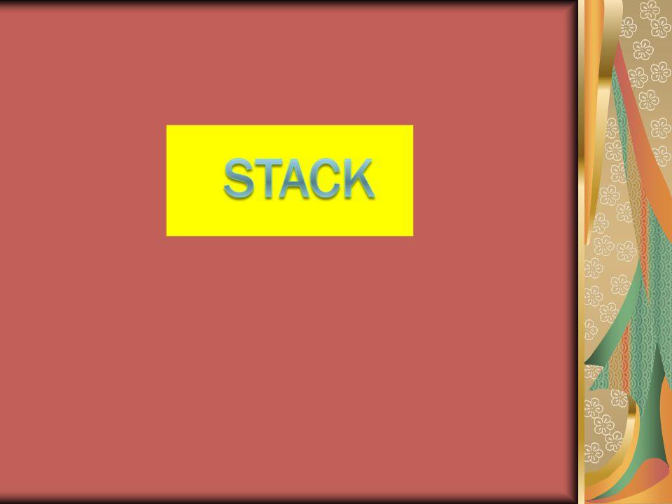 Fungsi Push  Untuk memasukkan elemen ke stack, selalu menjadi elemen teratas stack (yang ditunjuk oleh Top of stack)  Tambah satu (increment) nilai top of stack lebih dahulu setiap kali ada penambahan elemen stack.