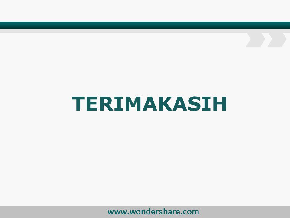 www.wondershare.com TERIMAKASIH