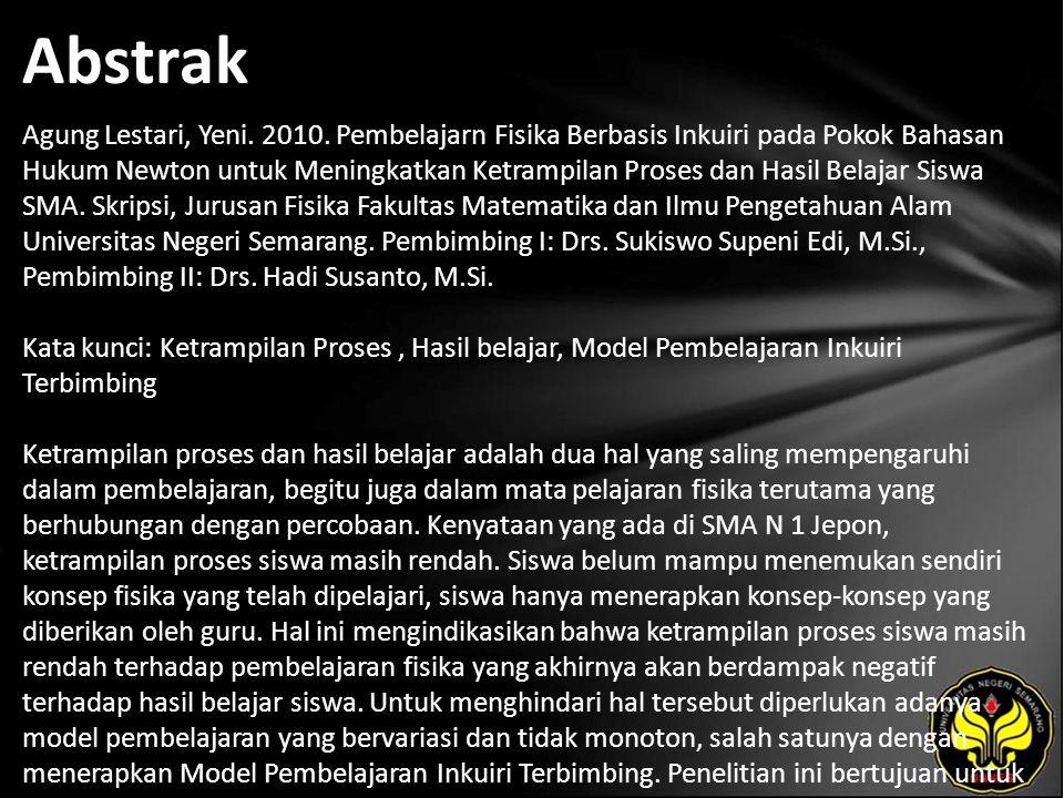 Abstrak Agung Lestari, Yeni. 2010.