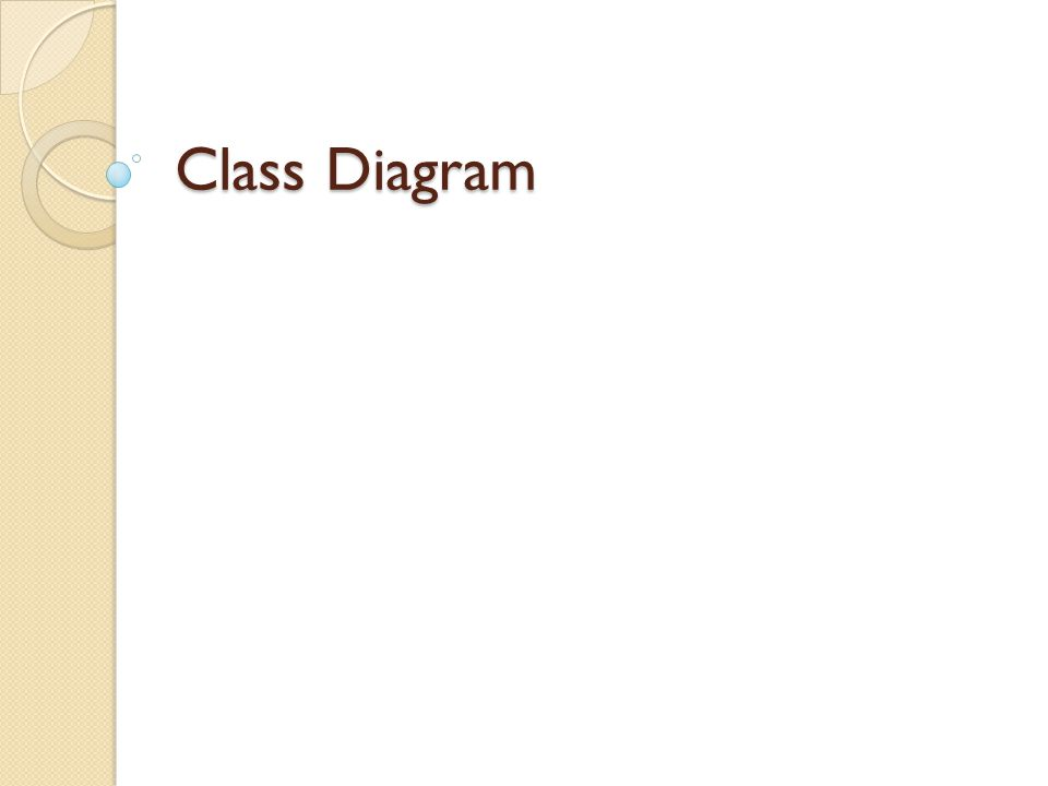 Class Diagram .