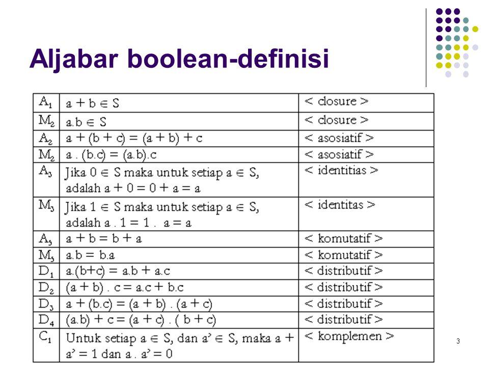 3 Aljabar boolean-definisi