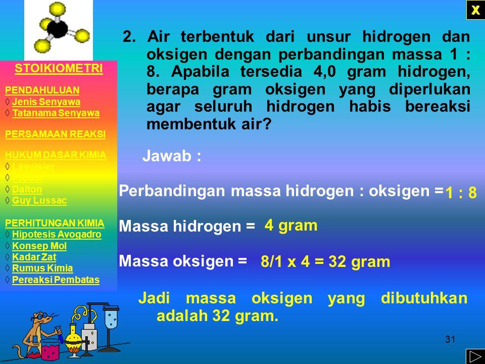 30 LATIHAN 1.Pada percobaan pembuatan senyawa tembaga (II) sulfida, tembaga dicampur dengan belerang kemudian dipanaskan.