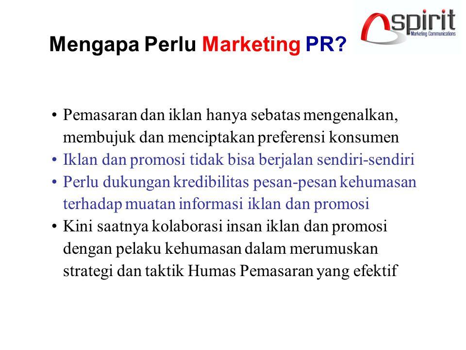 Marketing PR: Multivitamin? Marketing PR perlu dimulai pada jaman normal atau saat aman/berjaya MPR dirancang untuk jangka panjang sebagai program ber