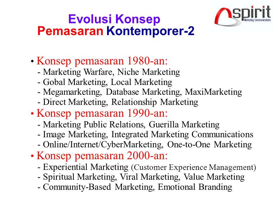 Lima Model Kolaborasi Marketing & PR Marketing & PR as the same function MktPRMktPR Equal but overlapping functions Separate but equal functions Marketing as the dominant function PR as the dominant function PR Mkt PR Mkt=PR