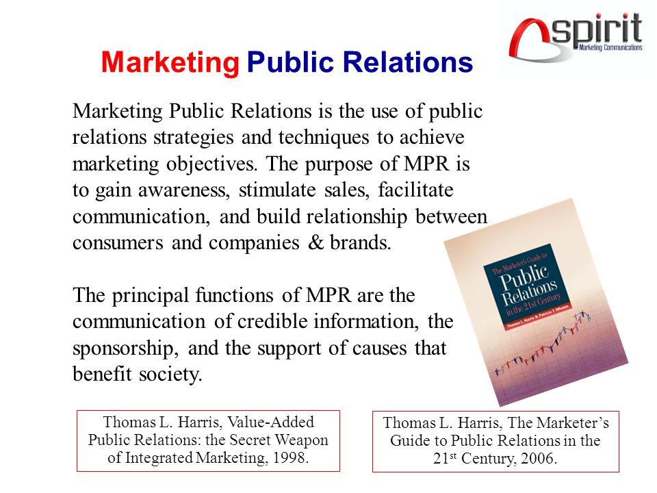 Marketing Public Relations Thomas L.