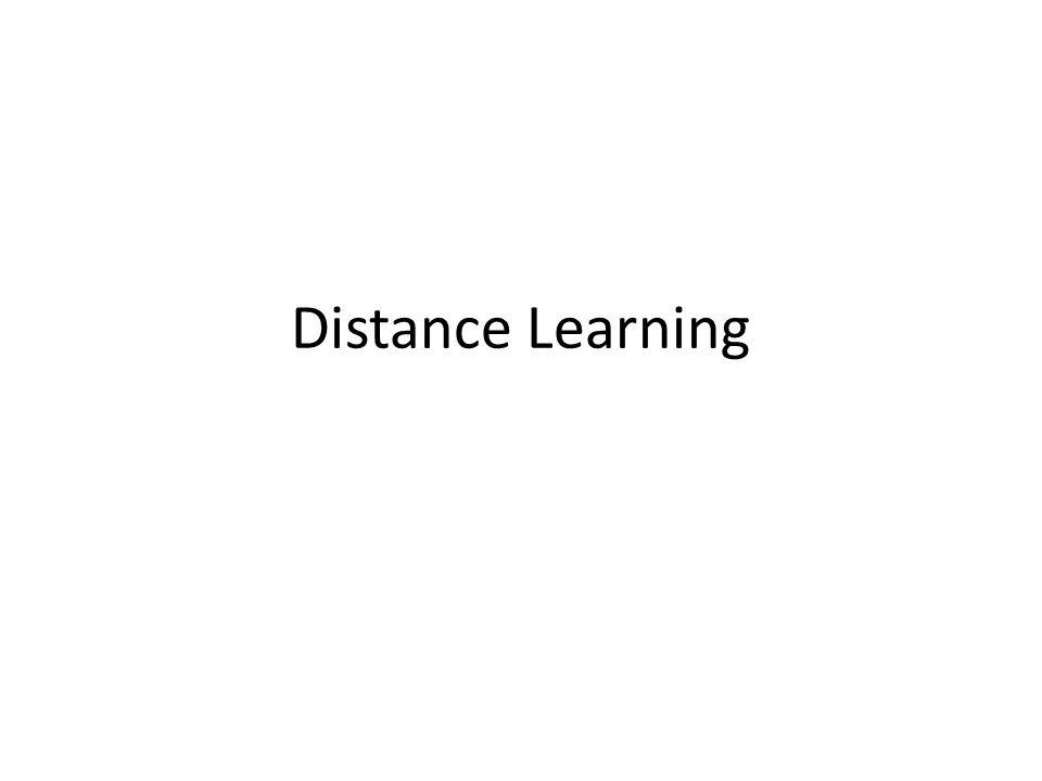 Menurut Pendapat Anda Distance Learning = E-Learning ?