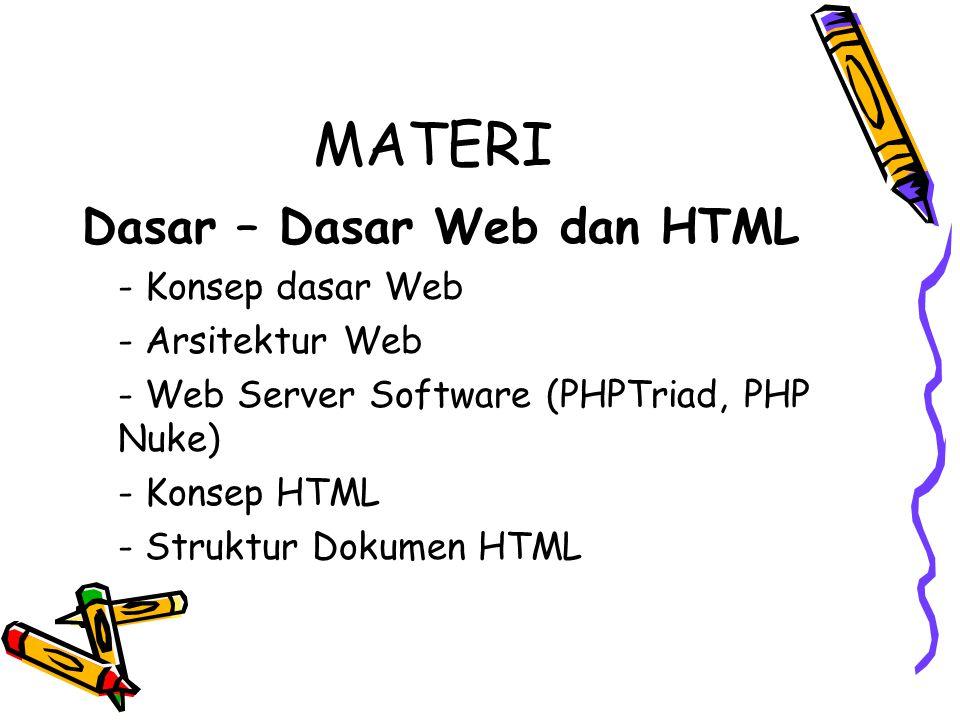 Konsep HTML Cara pertama kelebihannya adalah HTML Editor merupakan sebuah program yg khusus didesain untuk membuat, melakukan editing bahkan mem-publish ke internet.