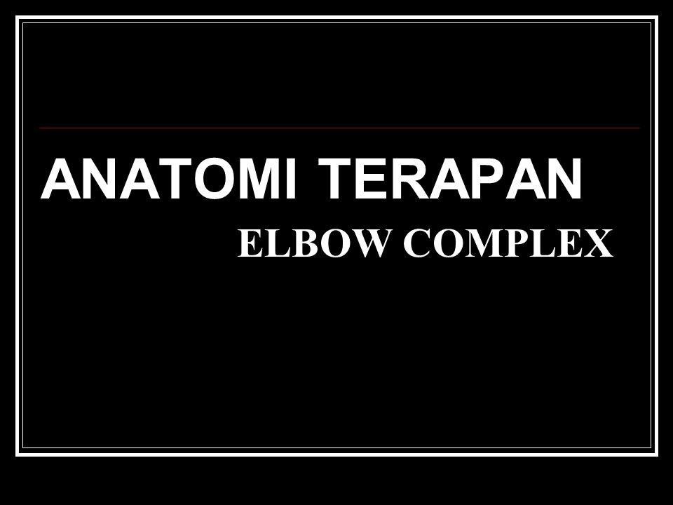 ELBOW COMPLEX ANATOMI TERAPAN