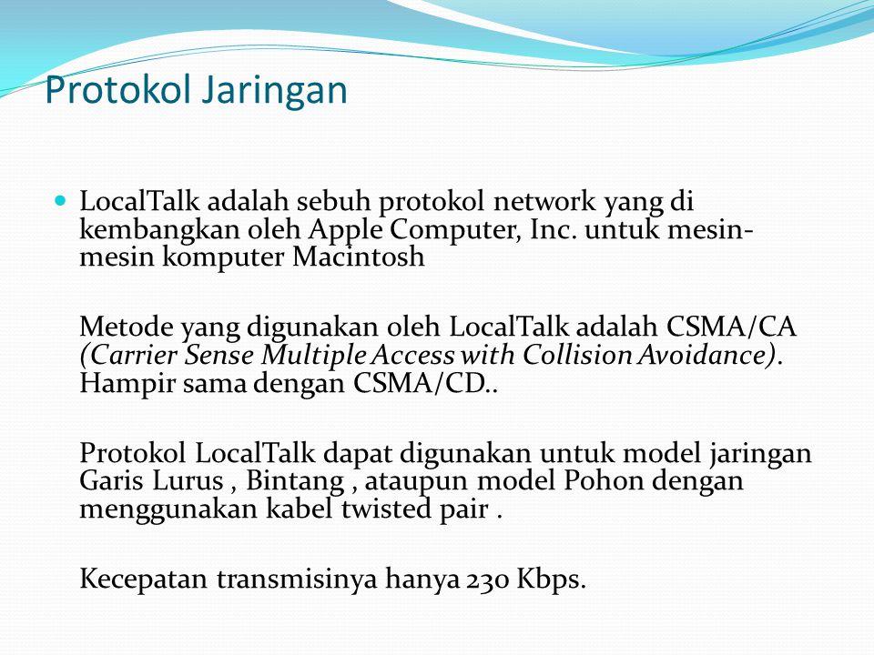 Protokol Jaringan LocalTalk adalah sebuh protokol network yang di kembangkan oleh Apple Computer, Inc. untuk mesin- mesin komputer Macintosh Metode ya