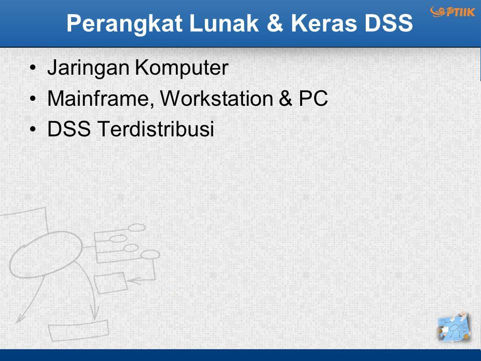Perangkat Lunak & Keras DSS Jaringan Komputer Mainframe, Workstation & PC DSS Terdistribusi