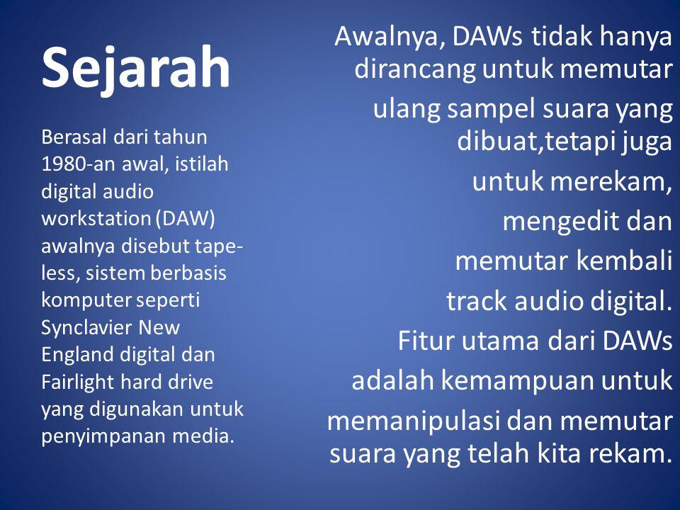 5 komponen utama DAW : 5.Speaker Monitor.