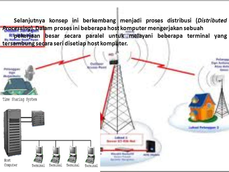 Selanjutnya konsep ini berkembang menjadi proses distribusi (Distributed Processing).