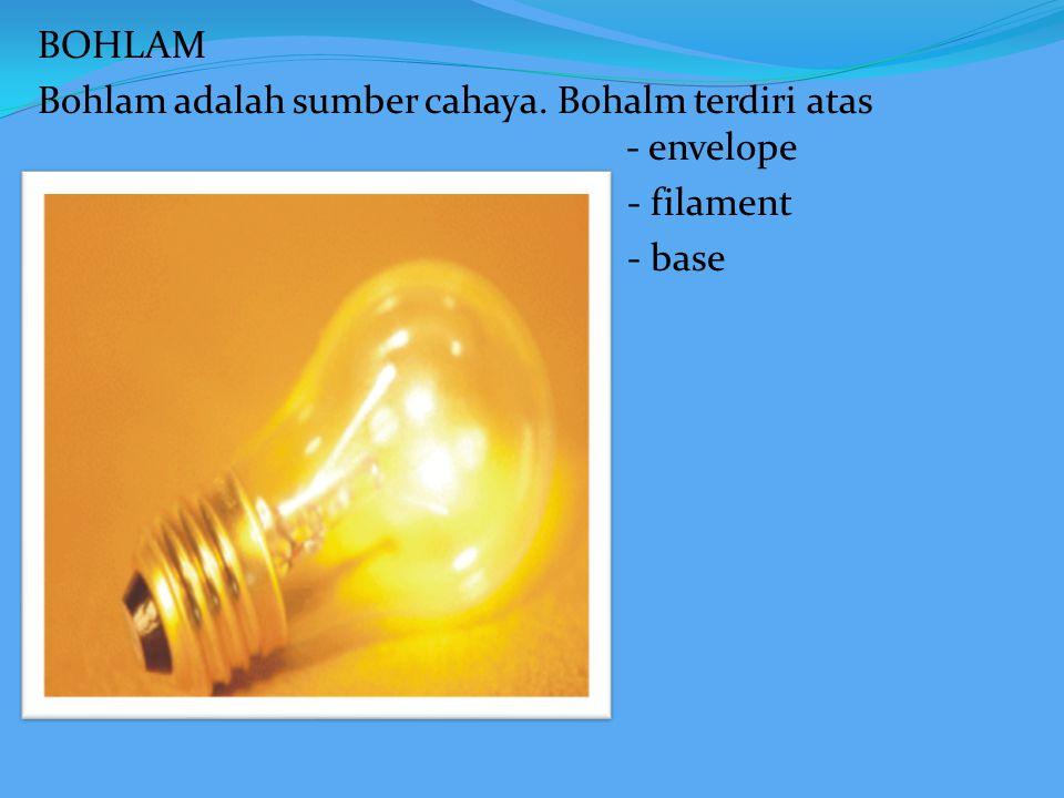 fungsi : untuk memancarkan cahaya dari bohlam ke obyek yang disinari