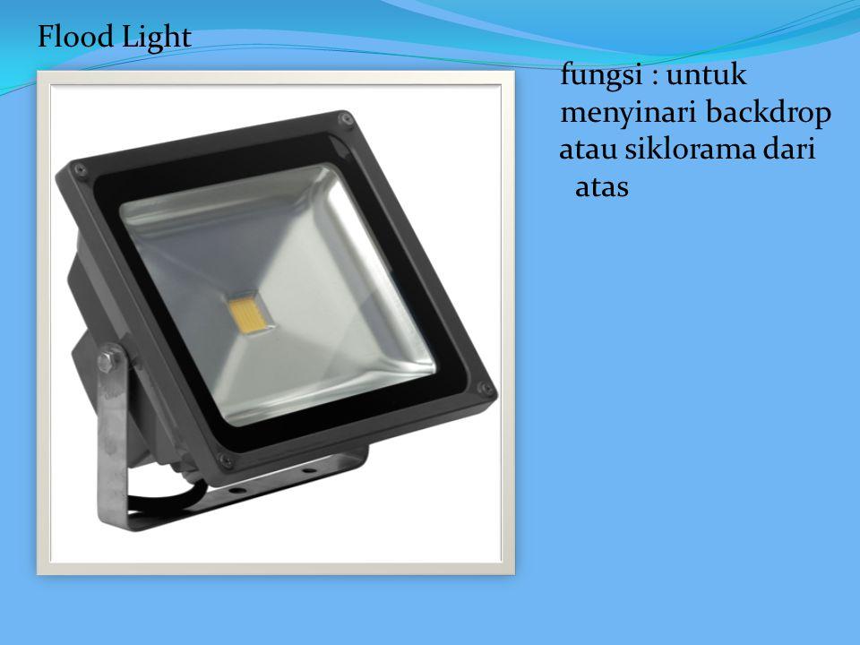 Scoop Light adalah lampu flood yang menggunakan reflektor ellipsoidal dan dapat digunakan untuk bebagai macam keperluaan