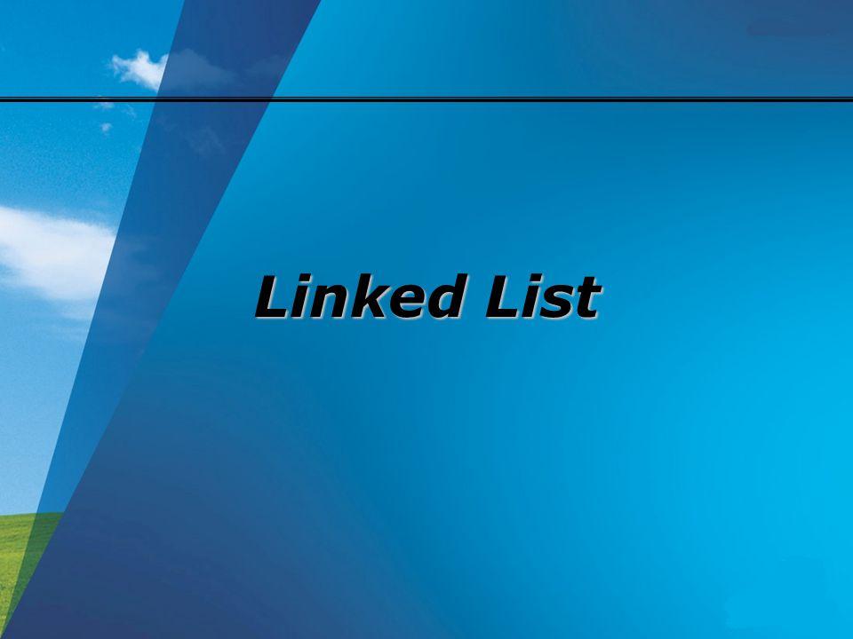 Koleksi Sampah Setelah penghapusan sebuah simpul linked list, terdapat ruang memori yang bebas (tidak terpakai).