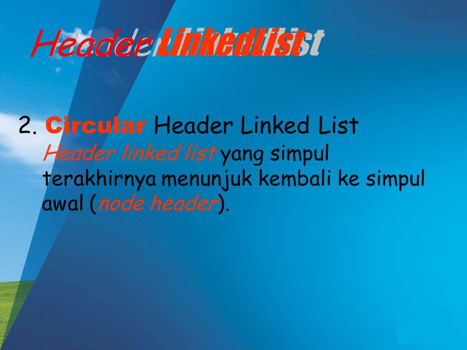 Header LinkedList 2.