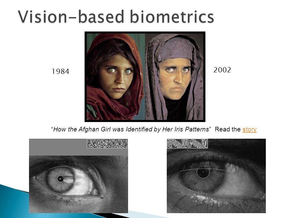 How the Afghan Girl was Identified by Her Iris Patterns Read the storystory 1984 2002