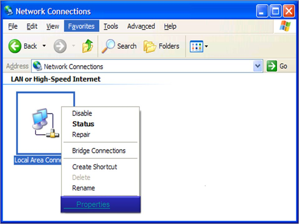 Page 6 Local Area Conection Connected#6. Slide 6 Intel(R) PRO/100 Network co...