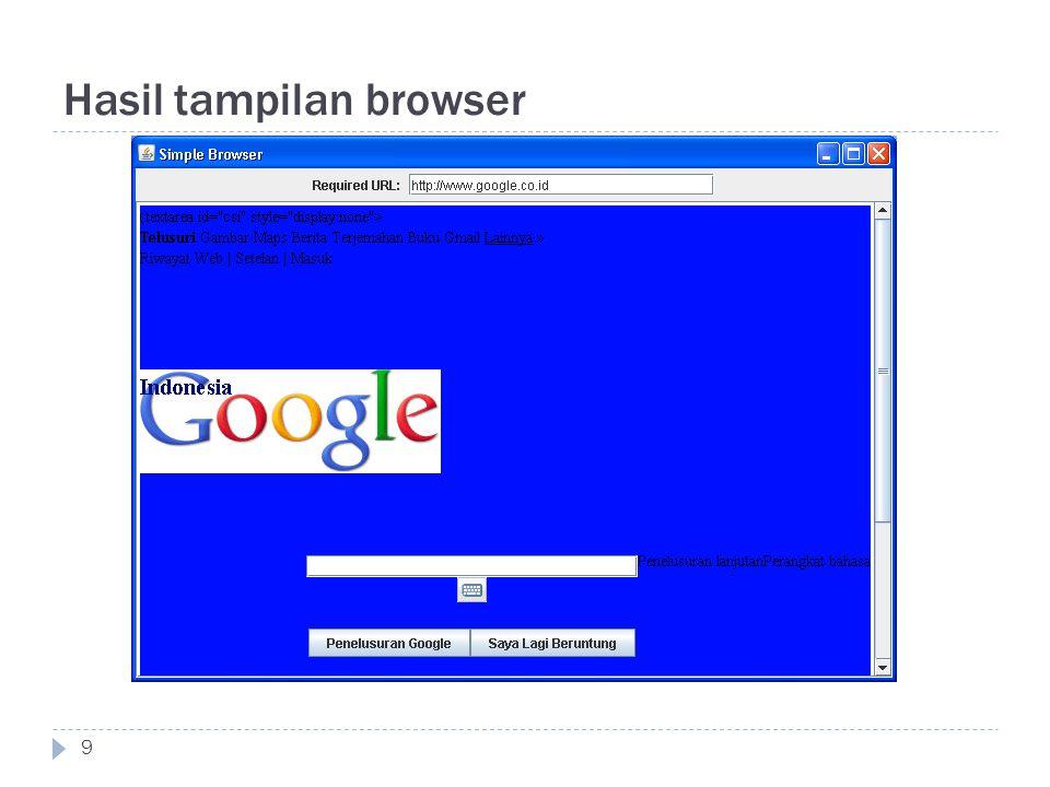Hasil tampilan browser 9