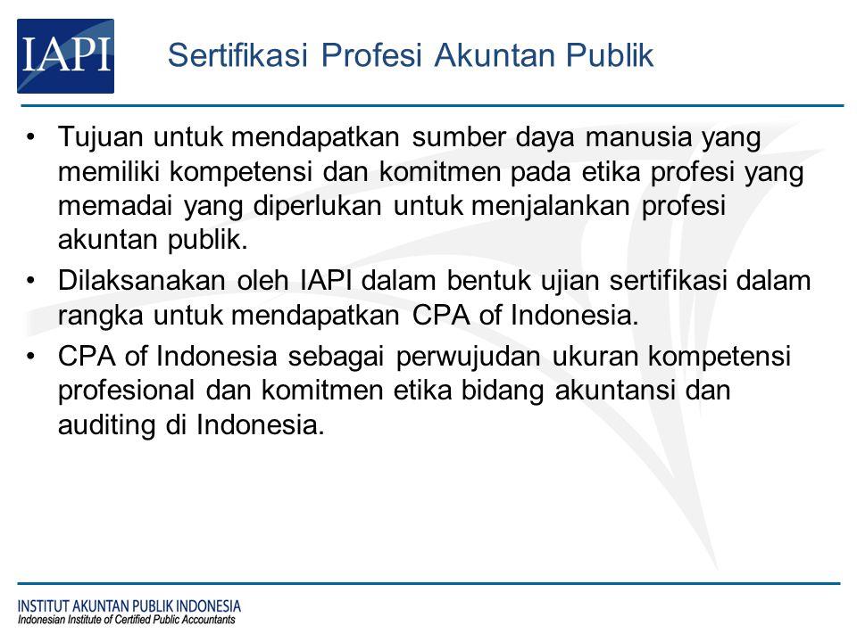 Tujuan untuk mendapatkan sumber daya manusia yang memiliki kompetensi dan komitmen pada etika profesi yang memadai yang diperlukan untuk menjalankan p
