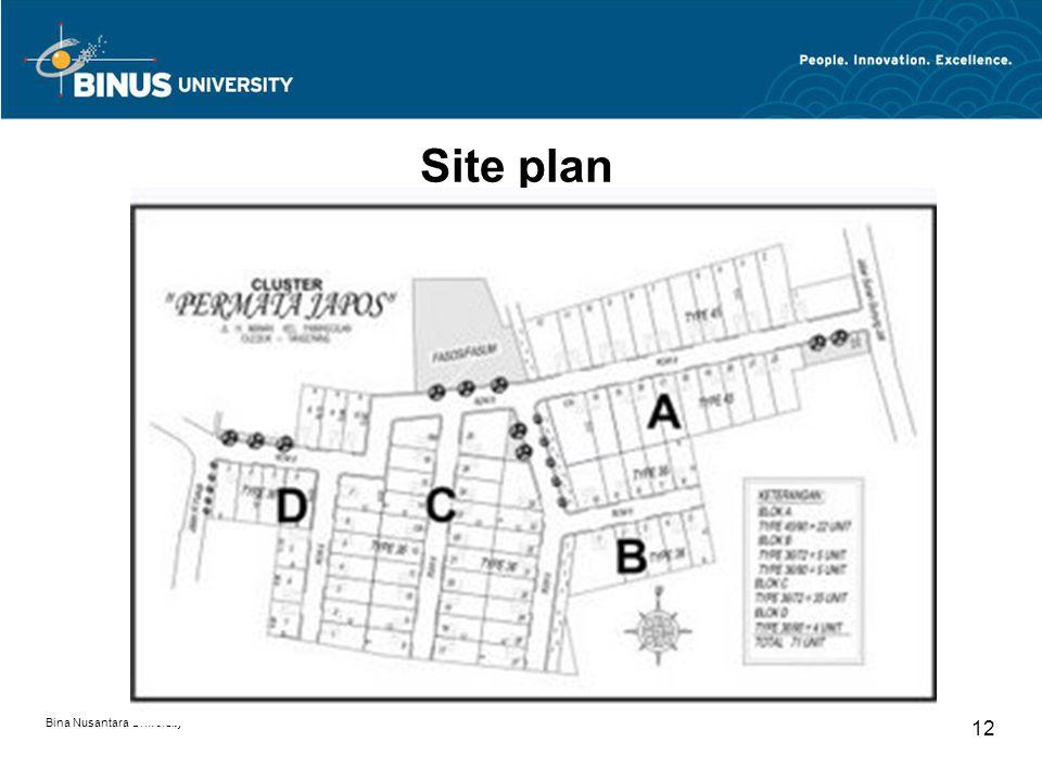 Bina Nusantara University 12 Site plan