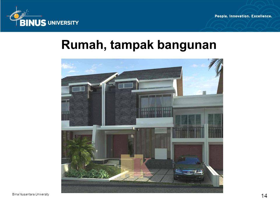 Bina Nusantara University 14 Rumah, tampak bangunan