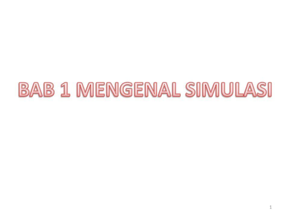 Simulasi merupakan salah satu cara untuk memecahkan berbagai persoalan yang dihadapi di dunia nyata (real world).