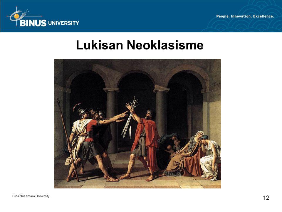 Bina Nusantara University 12 Lukisan Neoklasisme