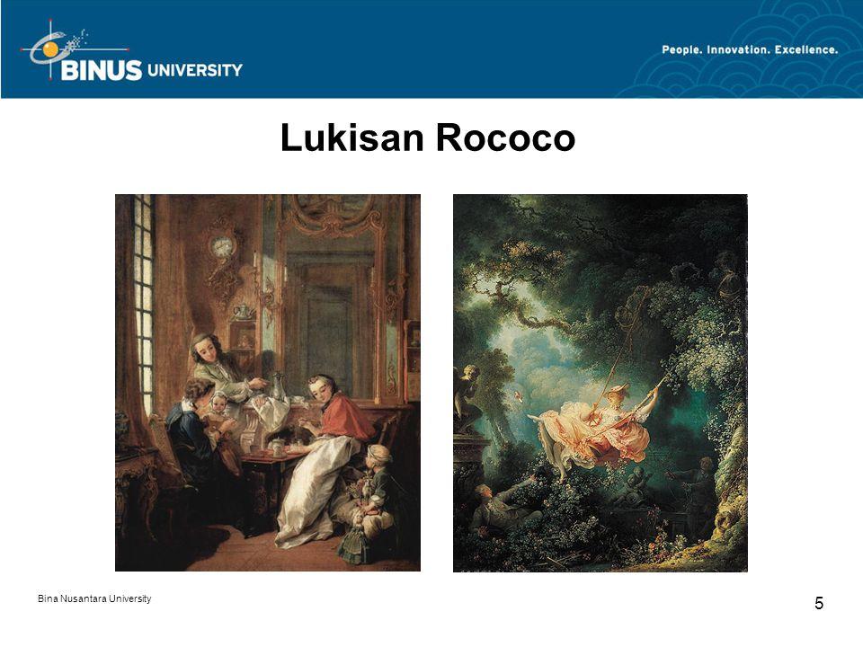 Bina Nusantara University 5 Lukisan Rococo