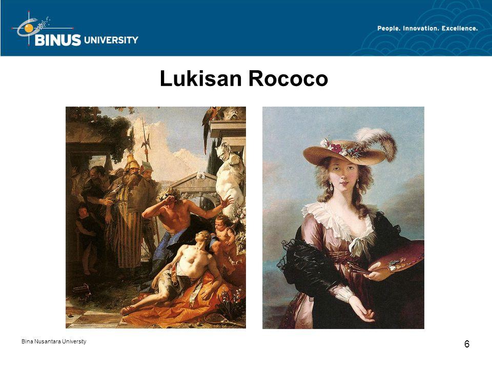 Bina Nusantara University 6 Lukisan Rococo