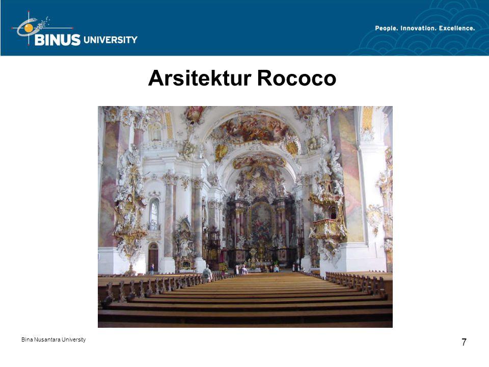 Bina Nusantara University 7 Arsitektur Rococo