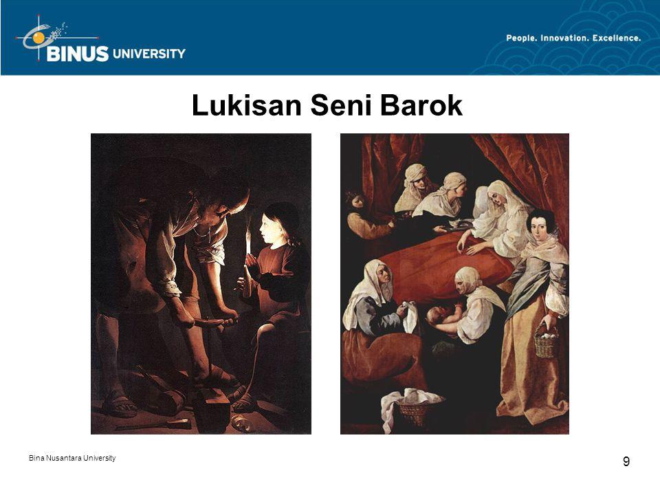 Bina Nusantara University 10 Lukisan Seni Barok