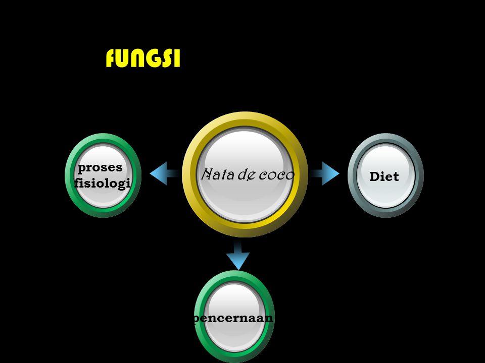 fUNGSI Nata de coco proses fisiologi Diet pencernaan